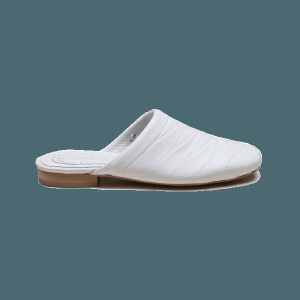 دمپایی زنانه دریچی مدل 5476 - رنگ سفید - فروشگاه اینترنتی لومنز تبریز